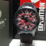 Spesifikasi Expedition Jam Tangan Unisex Expedition E6671M Black Stainless Steel Strap Canvas Black Murah Berkualitas