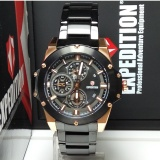 Jual Expedition Jam Tangan Wanita Expedition E6696Bf Multifunction Black Rosegold Stainless Steel