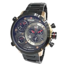 Expedition Triple Time 6706MTB- Black Rose Gold - Jam Tangan Pria