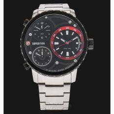 Review Expedition Triple Time Jam Tangan Pria Hitam Silver Expedition