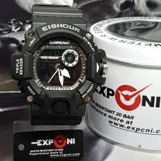 Jual Exponi Dual Time Exp 0140 Jam Tangan Pria Sporty Rubber Strap