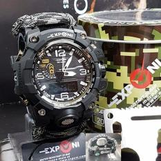 Exponi Sport Watch - Jam Tangan Pria Dual Time - Tali Canvas - EX3239
