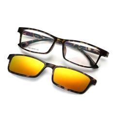 Promo Kacamata Bingkai Kacamata Terpolarisasi Miopia Kacamata Goggle Anti Uv Kacamata Frame Kacamata Klip Kacamata Kacamata Matahari 806 Leopard Frame Orange Klip Di Tiongkok