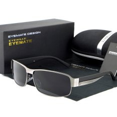 Review Tentang Eyemate Man Fashion Polarized Kecil Frame Sunglasses Greyi¼‰