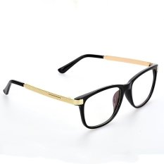 Jual Eyewear Student Casual Square Plain Clear Eyeglass Gold Intl Oem Asli