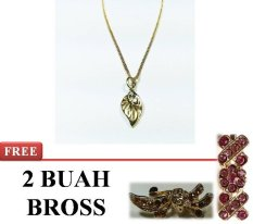 Eyo Jewelry Kalung Wanita SNS-002_GOLD_FREE 2 BROSS MINI