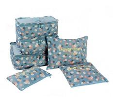 Diskon Besarezy Bag In Bag Travel Organizer Set 6Pcs Biru Motif