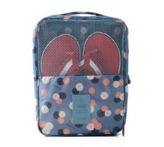 Review Ezy Travel Sandal Shoe Organizer Bag Biru Motif Ezy