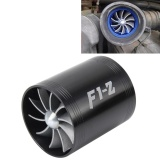 Promo Toko F1 Z Mobil Stainless Universal Supercharger Dual Double Turbin Air Intake Fuel Saver Turbo Turboing Charger Fan Set Kit Hitam Intl