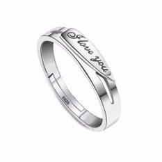 Fancyqube Fashion Jewelry Adjustable I Love You 1314 Berlapis Perak Elegan Cincin Pernikahan Indonesia Ngumpul Di Sini Cincin Hadiah Pria