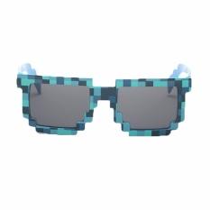 Fancyqube Kacamata Berkualitas Tinggi Super Lovely Special Mosaic Plaid Sunglasses Untuk Anak Biru-Intl By Fancyqube Fashion.