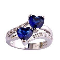 Wanita Fancyqube 925 Perak Menduakan Mayat Cinta Kristal Berlian-Biru