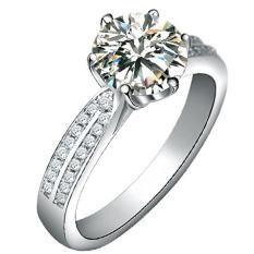 Wanita Fancyqube Eropa Yang Mewah Berlapis Platinum Cincin Berlian S925 Perak Cincin Perak