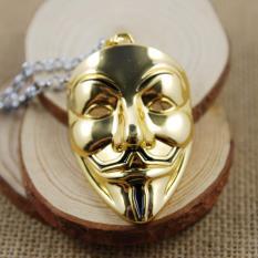 Film Perhiasan V For Vendetta Anonim Masker Berlebihan Hacker Masker Kalung Trendy Perhiasan For Pria And Wanita Emas (Putih 45 Cm) -Intl Fancyqube
