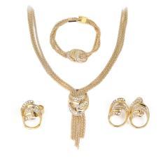 Diskon Produk Fancyqube Kalung Gelang Anting Cincin Empat Potongan Pernikahan Bridal Perhiasan Set Intl