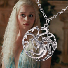 Fancytoy Game of Thrones Inspired Targaryen Charms Silver Pendant Chain Necklace- - intl