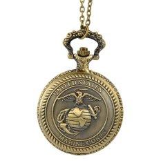 Jual Fancytoy Korps Marinir Amerika Serikat Pria Retro Perunggu Vintage Saku Kuarsa Perhiasan Coklat Termurah