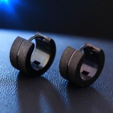 Mode 1 Pasangan Stainless Steel Putaran Perak Warna Anting-anting Keren Telinga Giwang Perhiasan Dirancang For Pria Wanita Brinco 2017-Intl