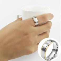 Fashion 18 K Cincin Berlapis Emas untuk Pernikahan And Lamaran Warna Perhiasan-Intl