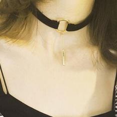 Fashion Aksesoris Logam Berlapis Perak Pendant Leather Round Choker Necklace untuk Pecinta Pasangan-Intl