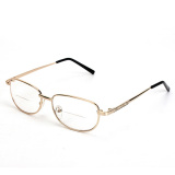 Spesifikasi Fashion Pria Kacamata Lensa Berbingkai Kacamata Baca Kacamata Bingkai Logam Emas 3 Merk Oem