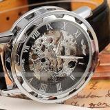 Tips Beli Fashion Hitam Golden Star Desain Mewah Jam Mens Watch Top Brand Luxury Mechanical Skeleton Watch Pria Jam Tangan Intl Yang Bagus