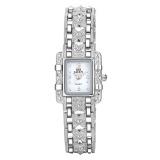 Cuci Gudang Fashion Gelang Casual Watch Wanita Rhinestone Quartz Watch Elegan Putih