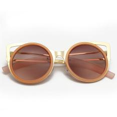 Dimana Beli Pesona Gadis Fashion Logam Telinga Mata Kucing Warna Lensa Reflektif Kacamata Hitam Kacamata Oem