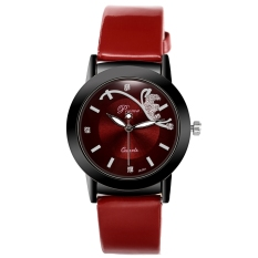 Fashion Classic Women Watch Round Dial Quartz Jam Tangan Kulit Sintetis Band Tiongkok Diskon 50