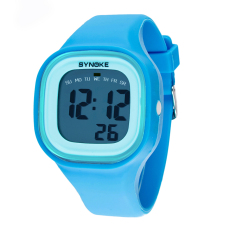 Beli Warna Warna Warni Fashion Anak And Tempat Silikon Olahraga Tahan Air Digital Jam Tangan Biru 66896 Synoke