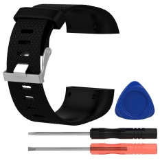 Model Fashion Cool Silicone Penggantian Strap Band Gelang Gelang With Obeng Alat Untuk Fitbit Surge Watch Ukuran S Hitam Terbaru