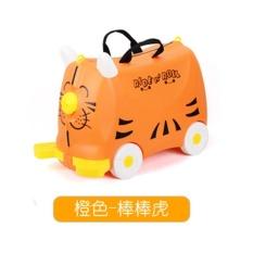 Fashion Kreatif Locker Boy Girl Baby Cars Toy Box Bagasi Koper Pull Rod Kotak Duduk Ride Kotak Centang Children Holiday Hadiah-Intl