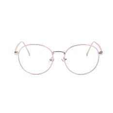 Transparansi busana vintage retro bingkai lensa kacamata lensa optik sederhana Berwarna Merah Muda/sebuah/20