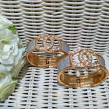 Promo Fashion Gelang Wanita Imitasi Bangle Gold Plated With Diamond Crystal Bracelet 1Pc Fashion Terbaru