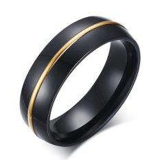 Pusat Jual Beli Fashion Perhiasan 6Mm Haid Hitam Pita Cincin Pernikahan 18 Kb Berlapis Emas Saluran With Arc Differences Bagian Tanaman And Pinggirnya Dipol Selesai Tiongkok