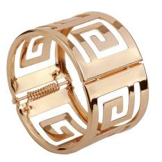 Jual Desain Komunikasi Visual Perhiasan Berongga Gelang Hiasan Berlapis Emas Paduan Hadiah Gelang Satu Set