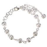 Wanita Mode Perhiasan 925 Berlapis Perak Rantai Gelang Manik Manik Keropos Beruntung Terbaru