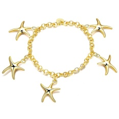 Fashion K Gold Malaysia romantic starfish bracelet - intl
