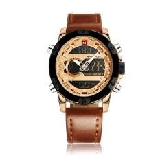 Fashion Leather Watch Men Quartz Analog Lanyard Watch Sports Wrist Watch Intl Di Tiongkok