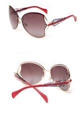 Review Fashion Luxury Women Metal Frame Polarized Women Sunglasse Butterfly Style 3 Colors For Choose