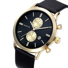 Toko Fashion Pria Kasual Waterproof Date Leather Militer Jepang Watch Gift B Gd Emas Hitam Online