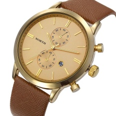 Jual Fashion Pria Kasual Waterproof Date Leather Militer Jepang Watch Hadiah Gd Intl Not Specified