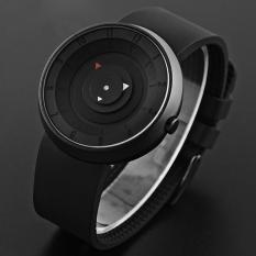 Busana Pria Mewah Stainless Steel Analog QUARTZ Sport Wrist Watch BK Hitam-Intl