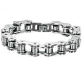Beli Fashion Pria Silver Titanium Baja Jaringan Gelang Oem Asli