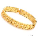 Toko Fashion Pria Antik Ukiran Berlapis Emas Perhiasan Gelang Rantai Pria Hadiah Internasional Terdekat