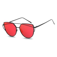 Fashion Baru Logam Warna Film Kacamata Pria Dan Women Retro Style Sunglasses Bright Black Box Ungu Asli