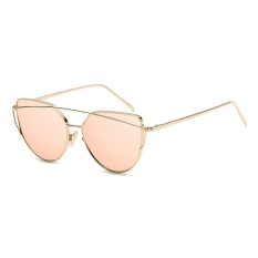 Beli Fashion Baru Logam Warna Film Kacamata Pria And Women Retro Style Sunglasses Emas Bingkai Emas Rose Bubuk Oem Asli