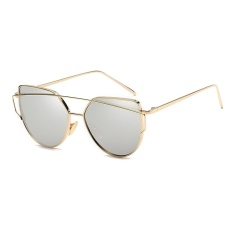 Fashion Baru Logam Warna Film Kacamata Pria Dan Women Retro Style Sunglasses Emas Bingkai Merkuri Putih Intl Murah