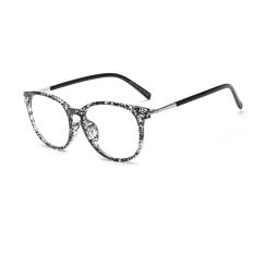 Review Fashion Oval Glasses Blackwhite Frame Glasses Plain For Myopia Women Eyeglasses Optical Frame Glasses Oculos Femininos Gafas Intl Terbaru