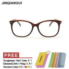 Beli Fashion Ovalnya Coklat Bingkai Kacamata Polos For Miopia Wanita Kacamata Bingkai Kacamata Optik Oculos Femininos Gafas Internasional Online Murah